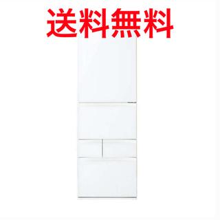 トウシバ(東芝)の【美品】411L 5ドア冷蔵庫  VEGETAホワイト GRR41GXVESW(冷蔵庫)