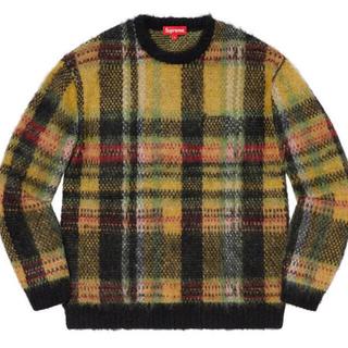 シュプリーム(Supreme)のSupreme Brushed Plaid Sweater XL Black(ニット/セーター)
