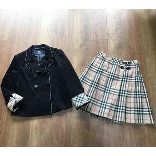 バーバリー(BURBERRY)の美品バーバリーロンドン チェックモチーフセットアップスーツ(ドレス/フォーマル)