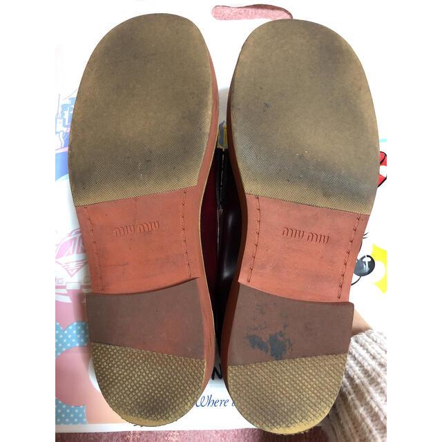 miumiu(ミュウミュウ)のミュウミュウ ローファー レディースの靴/シューズ(ローファー/革靴)の商品写真