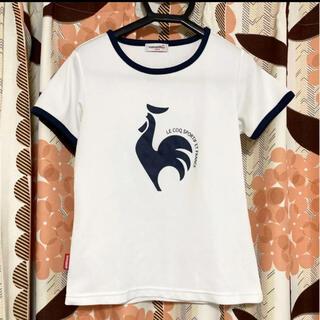 ルコックスポルティフ(le coq sportif)のルコック Tシャツ 半袖 テニス ゴルフ 白 ネイビー レディース(Tシャツ(半袖/袖なし))