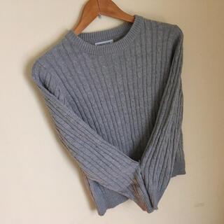 ブラウニー(BROWNY)のニット * グレー セーター 長袖 着こなし◎(ニット/セーター)