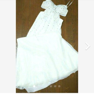 デイジーストア(dazzy store)の小悪魔アゲハ cream ロングドレス ホワイト(ロングドレス)