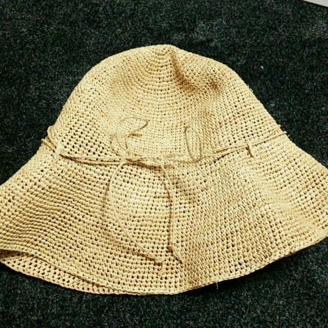 MUJI (無印良品)(ムジルシリョウヒン)のラフィア帽子 無印良品 レディースの帽子(麦わら帽子/ストローハット)の商品写真
