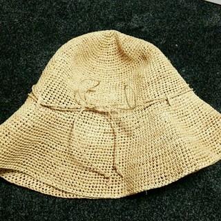 ムジルシリョウヒン(MUJI (無印良品))のラフィア帽子 無印良品(麦わら帽子/ストローハット)