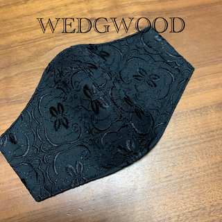 WEDGWOOD - インナーマスク WEDGWOOD   黒×黒