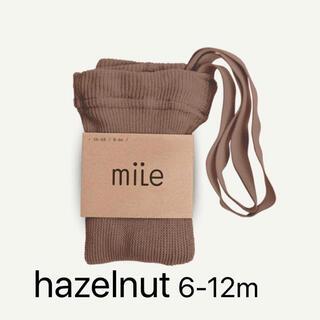 キャラメルベビー&チャイルド(Caramel baby&child )のラスト1点 新品 mile  マイル タイツ ヘーゼルナッツ(靴下/タイツ)