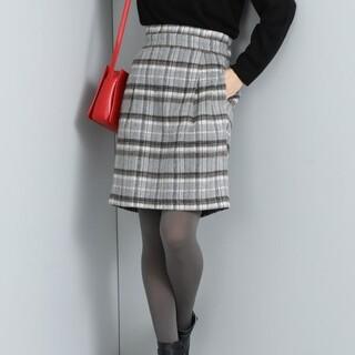 ヴィス(ViS)の【ViS】シャギーチェックタックスカート(ひざ丈スカート)
