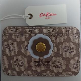 キャスキッドソン(Cath Kidston)の☆ Cath Kidston  カードホルダー  フレストン(トープ)(名刺入れ/定期入れ)