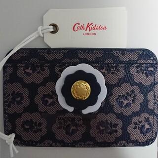 キャスキッドソン(Cath Kidston)の☆ Cath Kidston  カードホルダー  フレストン(ネイビー)(名刺入れ/定期入れ)