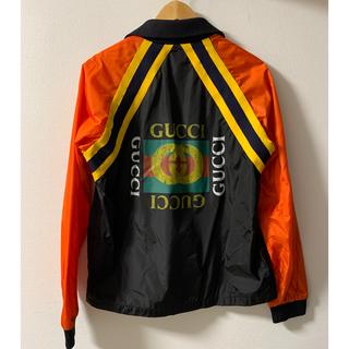 グッチ(Gucci)の【GUCCI】18AW グッチ ロゴプリント ナイロンジャケット 確実正規品(ナイロンジャケット)