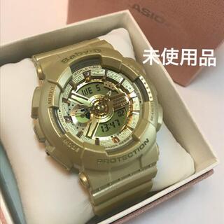 カシオ(CASIO)のcasio baby-g デジアナ ゴールド 未使用品(腕時計)
