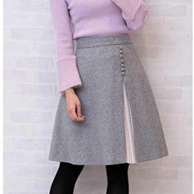 PROPORTION BODY DRESSING(プロポーションボディドレッシング)のサイドプリーツフレアースカート レディースのスカート(ひざ丈スカート)の商品写真