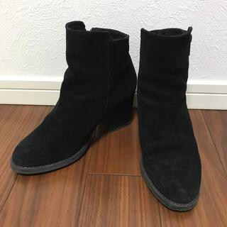 トゥモローランド(TOMORROWLAND)のSOL SANA ショートブーツ スエード調 シンプル ベーシック 定番 秋 冬(ブーツ)