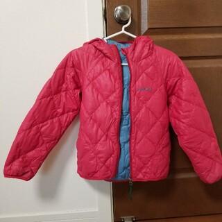 モンベル(mont bell)のmont-bell モンベル リバーシブルダウンブルー 130 ピンク 水色 (ジャケット/上着)