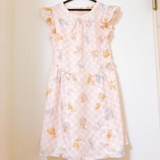 ミルク(MILK)の美品♡MILKバニードレス うさぎ ピンク(ひざ丈ワンピース)