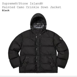 Supreme - supreme stone island ダウンジャケット 黒 Sサイズ