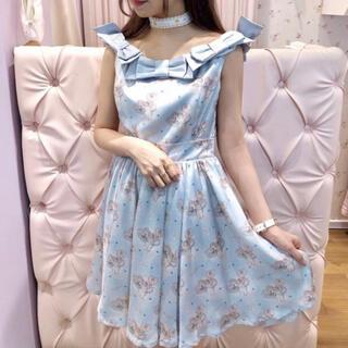 シロップ(syrup.)の新品未使用❤︎ローズマリーソワール ribbon one-piece dress(ひざ丈ワンピース)