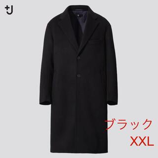 ユニクロ(UNIQLO)のブラック XXL ユニクロ +J カシミヤブレンドオーバーサイズチェスターコート(チェスターコート)