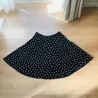 エディットフォールル(EDIT.FOR LULU)のmade in france nico bank dot flare skirt(ひざ丈スカート)