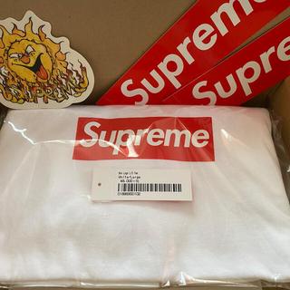 シュプリーム(Supreme)のSupreme  Box Logo L/S Tee  White シュプリーム(Tシャツ/カットソー(七分/長袖))