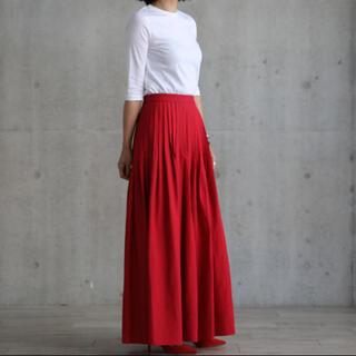 ツルバイマリコオイカワ(TSURU by Mariko Oikawa)のSHE tokyo Cindy red サイズ34(ロングスカート)