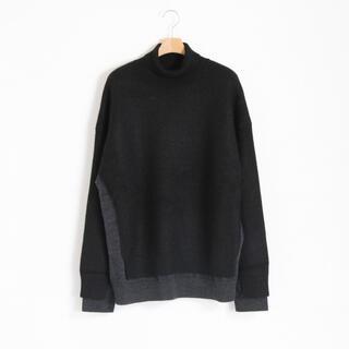 YOKE / CONNECTING HIGHT NECK KNIT LS(ニット/セーター)