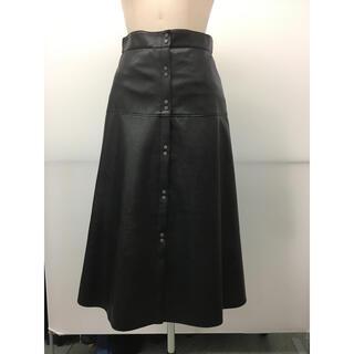 JILLSTUART - ジルスチュアート購入 ブラックレザースカート 新品未使用タグ付き