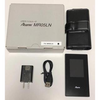 エヌイーシー(NEC)のNEC モバイルルーター Aterm  MR05LN ブラック(PC周辺機器)