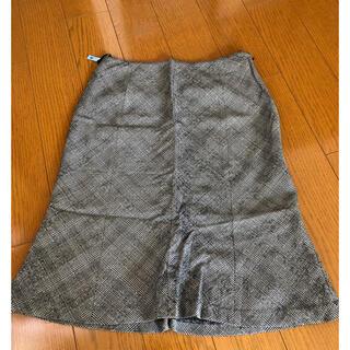 ミッシェルクラン(MICHEL KLEIN)のミッシェルクラン チェック柄スカート(ひざ丈スカート)
