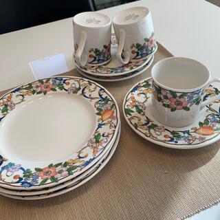 ミカサ(MIKASA)のMIKASA カップ&ソーサー 3客 お皿 3枚  👛さらにお値下しました❗(食器)