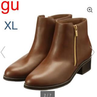 ジーユー(GU)の★gu サイドジップブーツ ブラウン キャメル XL(ブーツ)