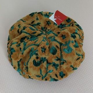 オーバーライド(override)のコーデュロイ花柄ベレー帽(ハンチング/ベレー帽)