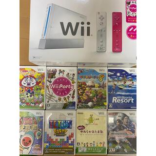 Wii - Wii本体 ソフト8枚 追加購入コントローラーセットWiiスポーツWiiパーティ