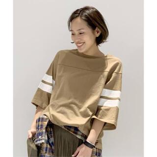 アパルトモンドゥーズィエムクラス(L'Appartement DEUXIEME CLASSE)のAP STUDIO AMERICANA ボーイフレンド フットボールTシャツ(Tシャツ(長袖/七分))