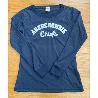 アバクロンビーアンドフィッチ(Abercrombie&Fitch)のABERCROMBIE & FICH 長袖Tシャツ 紺(Tシャツ(長袖/七分))