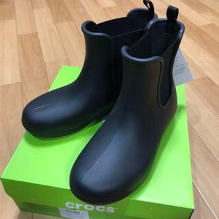 crocs - 22.0cm クロックス チェルシーブーツ 黒 22cm 長靴