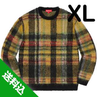 シュプリーム(Supreme)の【XL】SUPREME Brushed Plaid Sweater 黒(ニット/セーター)