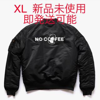 シュプリーム(Supreme)のNO COFFEE×KYNE×ALPHA トリプルコラボMA-1 黒 XL(フライトジャケット)