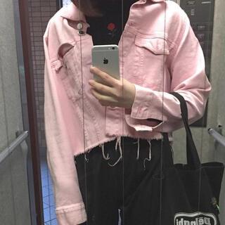 エイチアンドエム(H&M)のH&M ピンク ジャケット(Gジャン/デニムジャケット)