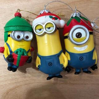ミニオン(ミニオン)のミニオンズ クリスマスオーナメント 3つセット(キャラクターグッズ)