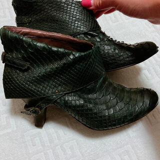 アルフレッドバニスター(alfredoBANNISTER)のアルフレッドバニスター ショートブーツ 24㎝ 蛇革(ブーツ)