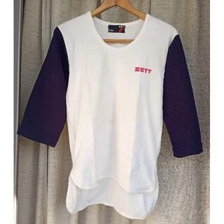 ゼット(ZETT)のZETT ベースボールシャツ 紺7分袖(ウェア)
