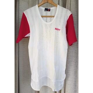 ゼット(ZETT)のZETT ベースボールシャツ 赤半袖(ウェア)