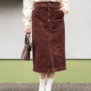 ヘザー(heather)のヘザー コーデュロイスカート 新品未使用(ひざ丈スカート)