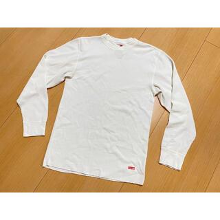 シュプリーム(Supreme)のSupreme Hanes サーマルロンT コラボ ホワイト サイズL(Tシャツ/カットソー(七分/長袖))