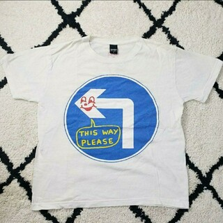 グラニフ(Design Tshirts Store graniph)のTM040 古着   graniph グラニフ  プリント  Tシャツ ホワイト(Tシャツ/カットソー(半袖/袖なし))