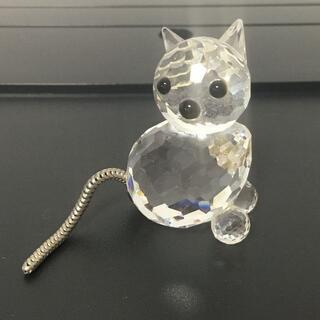 スワロフスキー(SWAROVSKI)のスワロフスキー SWAROVSKI ねこ 猫 ネコ クリスタル mini cat(ガラス)