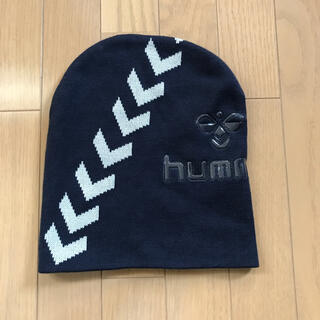 ヒュンメル(hummel)のhummel  スポーツニットキャップ ネイビー フリーサイズ(ニット帽/ビーニー)