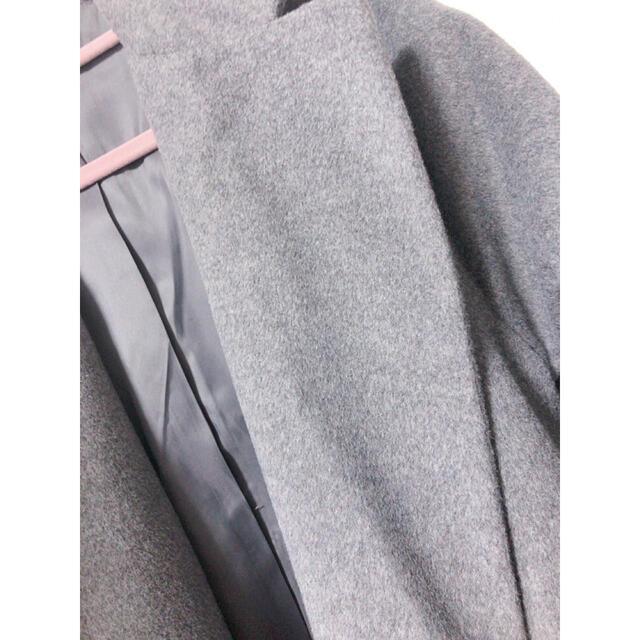 UNIQLO(ユニクロ)のグレー コート ユニクロ レディースのジャケット/アウター(チェスターコート)の商品写真